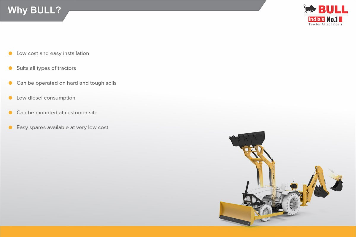 BULL Backhoe Loader - Backhoe Loader, Tractor Dozer Manufacturers